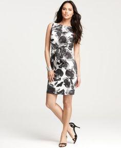 Cotton Voile Floral Print Tie Front Dress | Ann Taylor