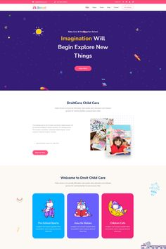 Kidzo is a creative best kids & children learning & activities WordPress Theme. This WordPress theme is targeted for kids, children – their education, schooling, and other activities. Kids Learning Apps, Learning Activities, Pag Web, Minimal Web Design, Wordpress Theme Design, Web Design Services, Kids Story Books, Educational Websites, Landing Page Design