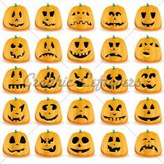 Pumpkin Halloween faces