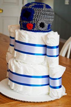 Star Wars Diaper Cake R2D2 Baby Shower By Julies2CuteCreations
