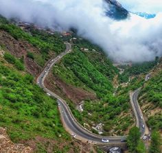 #Chalus road leading to #CaspianSea wrapped in mist, #Iran. #BeautifulIran #travel #MustSeeIran