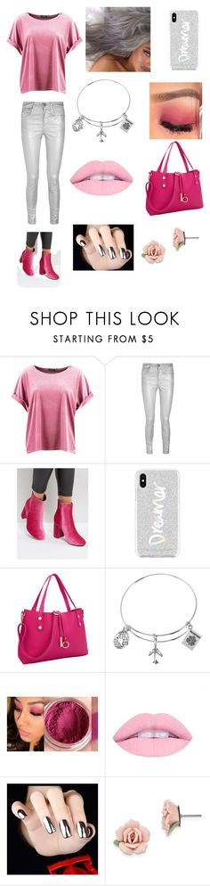 """""""Pink/Silver"""" by biancarequena ❤ liked on Polyvore featuring Boohoo, Étoile Isabel Marant, Truffle, Rebecca Minkoff, Dasein and 1928"""
