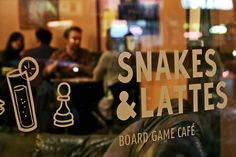 Snakes & Lattes, a board game cafe in Toronto. Shelby and I saw this website and died a million glorious, jealous deaths. Why not usssss