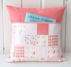 Sewing Pillows Image of Peachy Keen Pillow - Browse all products from Beech Tree Lane Handmade. Baby Pillows, Kids Pillows, Throw Pillows, Book Pillow, Reading Pillow, Patchwork Pillow, Quilted Pillow, Best Pillows For Sleeping, Sewing Pillows
