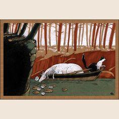 По течению. Из набора Про Лошадь - Катя Бауман   Магазин открыток Cardspoint.ru