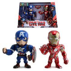 Captain America Civil War Battle Damaged Captain America Steve Rogers and Iron Man