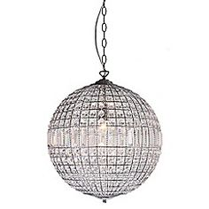 Home Collection - Large Isabella Crystal Glass Ball Pendant Light Interior Lighting, Home Lighting, Pendant Lighting, Contemporary Lamps, Crystal Collection, Pendant Design, Glass Ball, Clear Glass, Ceiling Lights