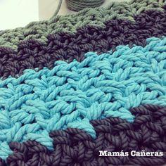Alfombra tejida a crochet con cuerda de 4mm