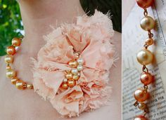 Aunt Peaches: A Peachy Necklace from Aunt Dooney's Prom Dress