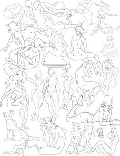 Poses set 13 by Nieris on DeviantArt Drawing Reference Poses, Drawing Skills, Drawing Poses, Art Reference, Body Drawing, Anatomy Drawing, Figure Drawing, Cartoon Tutorial, Model Sketch
