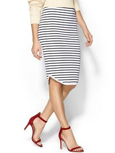 Sweet Stripes Pencil Skirt Product Image