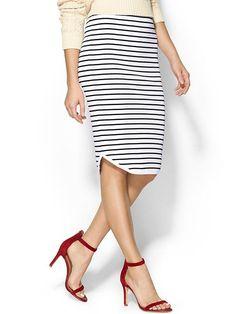 stripes + red heels