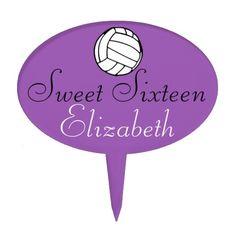 Sweet Sixteen- Volleyball Cake Topper