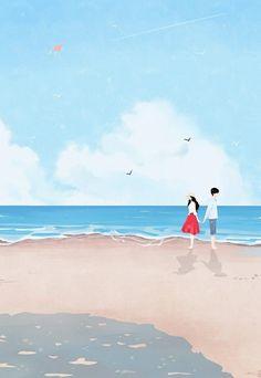 Anime Love Couple, Couple Cartoon, Couple Art, Cute Anime Couples, Couple Illustration, Illustration Art, Stock Design, Couple Wallpaper, Cute Drawings