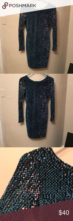 Motel blue Sequin Dress ASOS Sz. S Motel blue Sequin Dress ASOS Sz. S ASOS Dresses