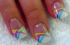 80's theme: Spring nails