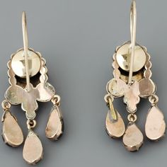 Antique Victorian Earrings with Rose-cut Garnets in Garnet Gold  Fay Cullen