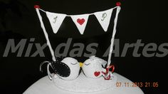Topo de bolo para casamento...By Mix das Artes