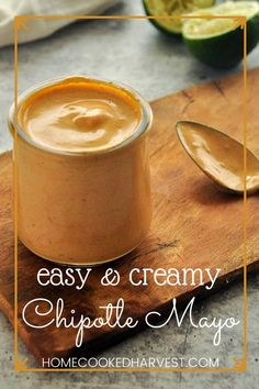 Chipotle Mayo Sauce is full of smoky chipotle flavor and a kick of spice. Once you get a hold of this creamy chipotle sauce you are going to want to put it on everything. This chipotle mayonnaise recipe is going to be your foods new best friend! Chipotle Mayo Recipe, Chipotle Mayonnaise, Chipotle Sauce, Mayonnaise Recipe, Healthy Potato Recipes, Vegan Side Dishes, Homemade Sauce, Creamy Sauce, Side Recipes