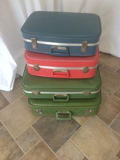 vintage suitcases -