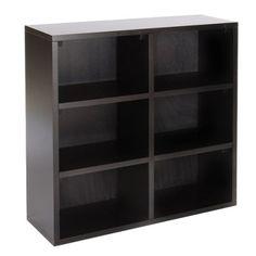 Adams 6-Shelf Bookcase - Soft Black.Opens in a new window