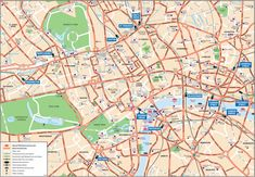 Anglonautes > Travel guide > Maps > London walking map