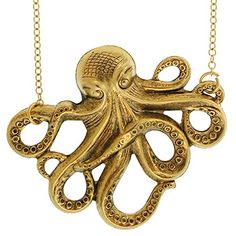 100% Nickel Free Octopus Necklace. Quality Made in USA!, in Antique Brass with Antique Finish GirlPROPS http://smile.amazon.com/dp/B003MUYQKK/ref=cm_sw_r_pi_dp_fq7dvb1G6WTKV