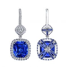 Sapphire & Diamond Earrings #omigems #mccaskillandcompany