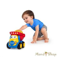 The Oball dump truck is another great toy for kids. The toy is easy to grip, so little hands will enjoy playing with this adorable construction toy. All Toys, Toys R Us, Popular Toys For Boys, Dump Trucks, Truck Bed, Kids Store, Fine Motor Skills, Toddler Toys, Action Figures
