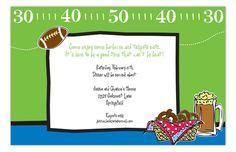 Kick Off Super Bowl Party Invitation