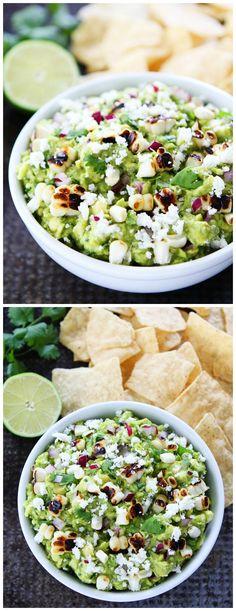 Grilled Corn Guacamole Recipe on twopeasandtheirpo. The BEST guacamole for summertime! Surimi Recipes, Endive Recipes, Avocado Recipes, Appetizer Recipes, Appetizers, Salsa Guacamole, Guacamole Recipe, Homemade Guacamole, Tostadas