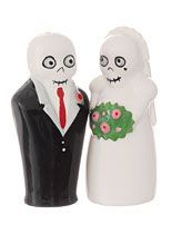 Bone Collector - Newlydeads Salt & Pepper Shakers by One Hundred 80 Degrees Home Decor