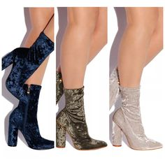 COUTURE VELVET BOOTIE COLLECTION