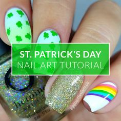 Autumn here from I put together a pictorial for an easy St. Patrick's Day mani that I hope you'll try out! Nyc Blog, St Patricks Day Nails, Nail Tutorials, Nail Colors, Nailart, Autumn, Fall Season, Fall, Nail Art Tutorials