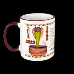 Valxart 1965 2025 Wood Snake zodiac Sagittarius Coffee Mugs by ValxArt