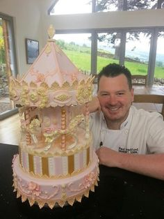 Paul Bradford with one of his fantastic cakes !
