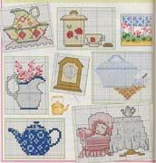more teapots and food on page