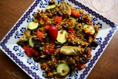 Poor Man's Paella  No saffron? No problem! This is a delicious take on paella (it's vegan friendly too), and an example of how you can make do even if you don't have all of the ingredients on hand!