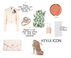 """walk to the pavillion"" by aliza-ahmed on Polyvore featuring RED Valentino, Apt. 9, GUESS, Bloomingdale's, Milani and Essie"