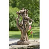 Living art comes home in the Campania International Morning Gossip Cast Stone Planter . This beautifully detailed cast stone sculpture features a trio.