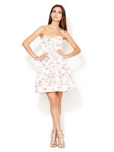 Man repeller Floral Aurora Strapless Dress