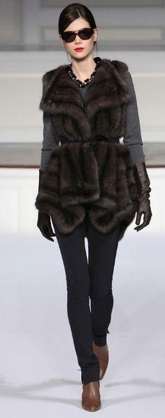 Fur vests & gloves