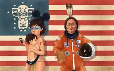 """We're all living in Amerika  """"On first time to do that work  I was inspired by the Rammstein song """"Amerika"""", about the cultural invasion but I wanted to mix it with the old colonialism"""""""