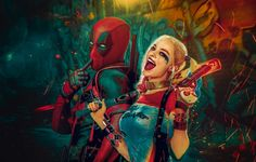 Image discovered by myciffis. Find images and videos about harley quinn, suicide squad and deadpool on We Heart It - the app to get lost in what you love. Deadpool Y Spiderman, Deadpool Funny, Spiderman Poster, Deadpool Movie, Gotham, Deadpool Wallpaper, Joker And Harley Quinn, Joker Joker, Joker Comic