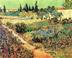 Vincent van Gogh. Flowering Garden with Path. Arles: July 1888