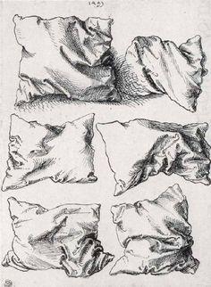 Albrecht Dürer, Six pillows, pen and ink on paper, circa 1493