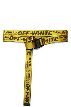 Off White Belt Yellow Off White Belt Black Off White Belt | Etsy