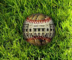 Yankee Stadium Opening Day Baseball Artistic by Unforgettaballs on Etsy Yankees Fan, New York Yankees, Opening Day Baseball, Joe Torre, Father's Day Celebration, Yankee Stadium, Wood Plaques, White Gift Boxes, Ballon