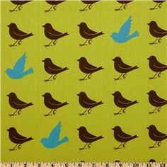 more bird fabric to accent.... can even do something fun for bedding