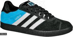Adidas Skateboarding - Gazelle - Black/Cyan/White